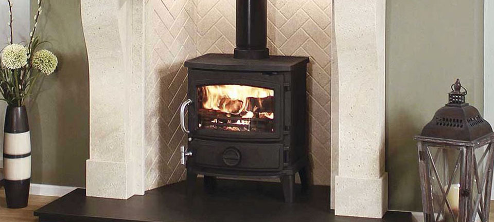 Fireplace for woodburning stove