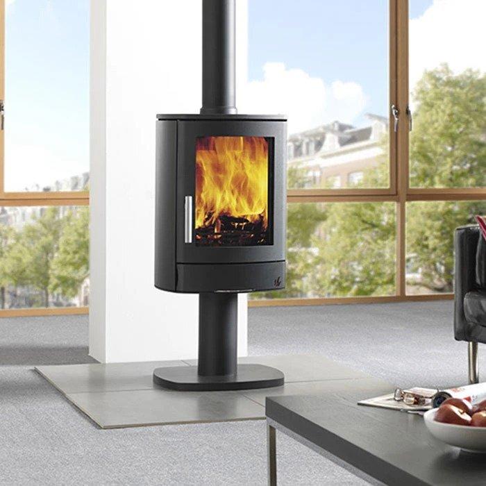 black eco wood-burning stove