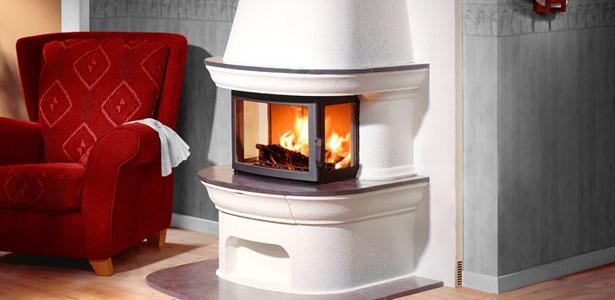 White freestanding stove